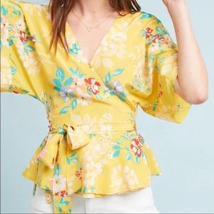 Yumi Kim Silk Kimono Wrap Top